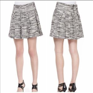Alice & Olivia BNW Davis Tweed Mini Skirt Size 6